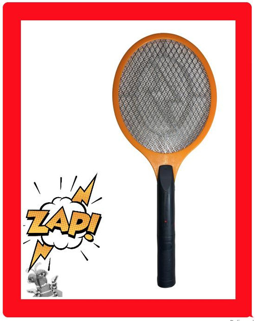 ✅ GIANT SIZE AA BATTERY Electric HIGH VOLTAGE Bug Zapper Fly Mosquito Racket