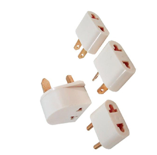 ✅ 4pcs Worldwide Foreign Travel Adaptor Kit - Plug Your USA device in ANYWHERE!