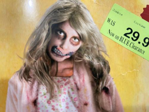 Walking Dead Zombie Mask - Little Girl Zombie - FREE WORLDWIDE s/h - Ages 6-12