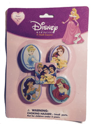 Disney Princess Erasers 4 Pack - Kids Eraser Pack - Brand New!
