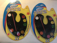 2x Professional 12 Watercolor and Brush Set  (you get two of these)