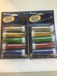 2x 5pack Glitter Shaker