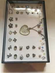 Heart Necklace With 16 Set Earring