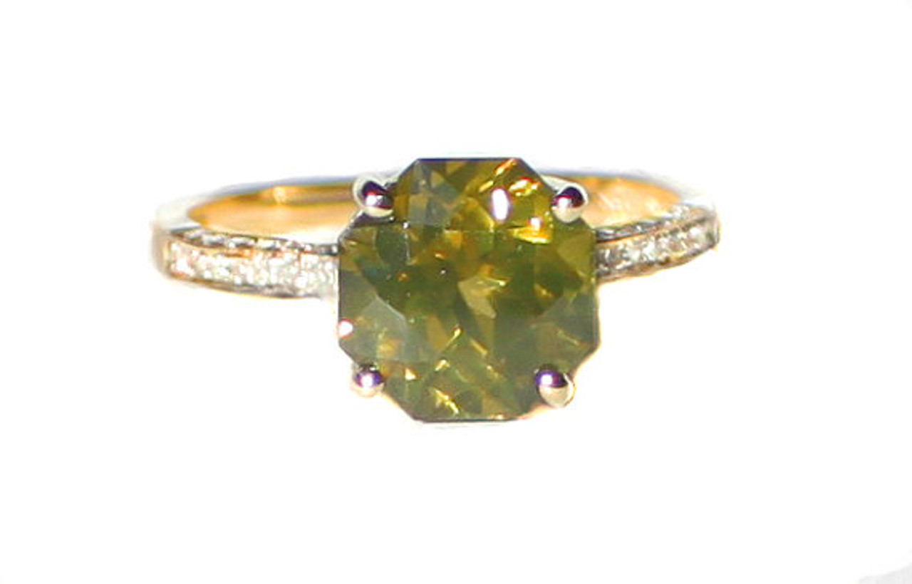 14K Solid White Gold Multistone Ring Solid Gold Jewelry Zircon Ring
