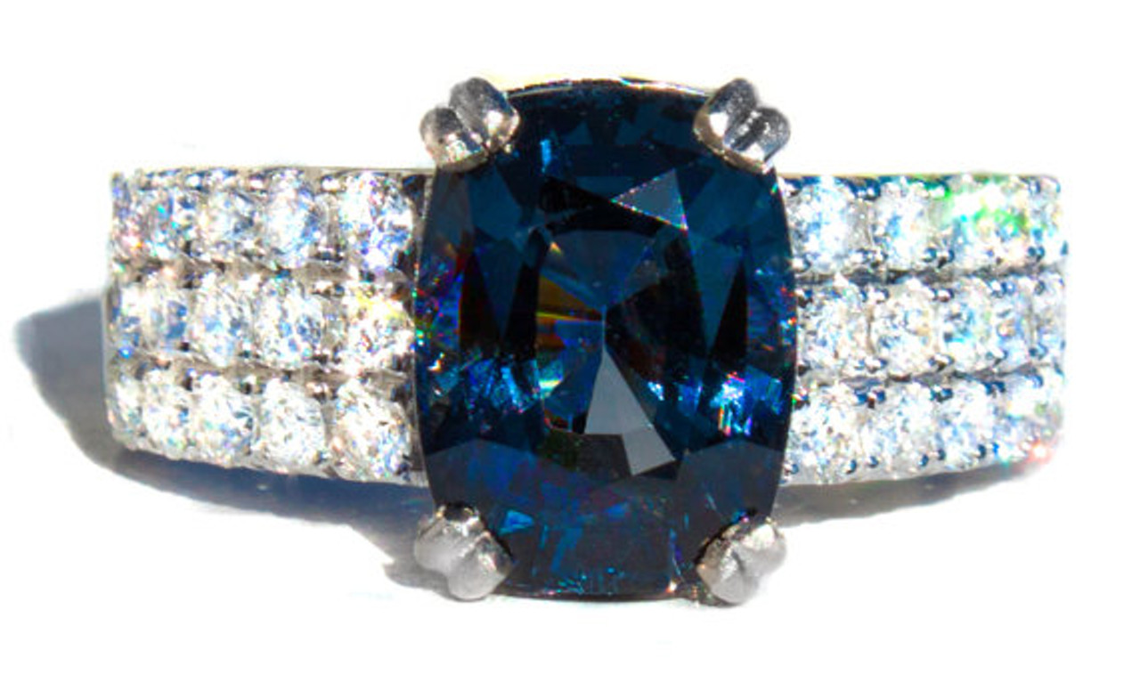 RARE Gold Blue Spinel Pendant  Blue Spinel  Blue Spinel Necklace  Blue Spinel Pendant  Spinel Jewelry  VITALITY  COMMUNICATION