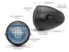 Wire mesh headlight guard