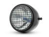 """Motorcycle 5.75"""" Vintage Style Black + Mesh Metal Headlight + Integrated Digital GPS Speedometer"""