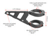 multi size tapered headlight bracket