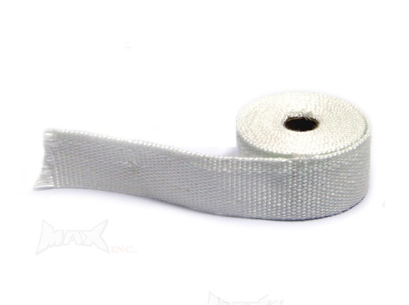 "White Fiberglass Exhaust Heat Wrap - 16ft  Roll 2"" wide"