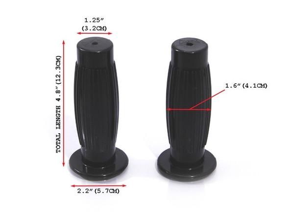 Black comfy motorcycle grip