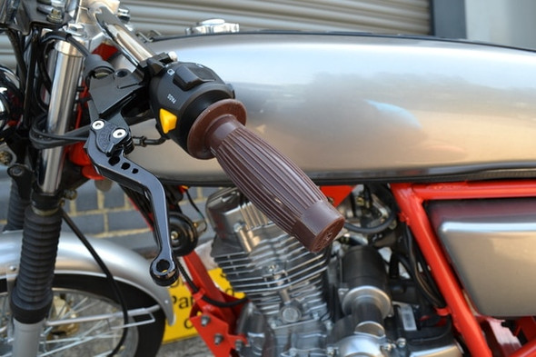 Brown Motorcycle handlebar grips