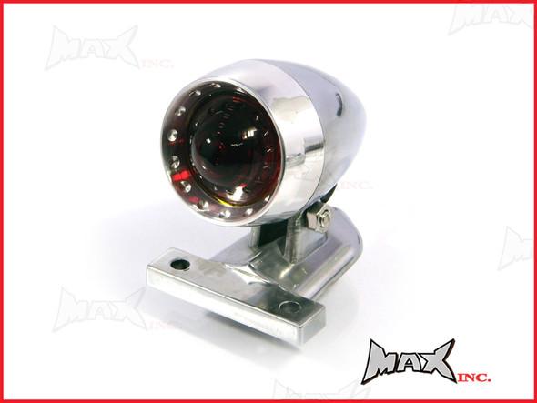 Polished Aluminium Bullet LED Stop / Tail Light - Red Lense
