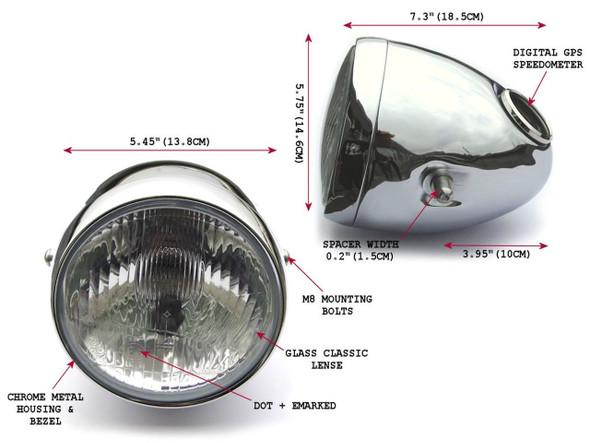 teardrop motorcycle headlight