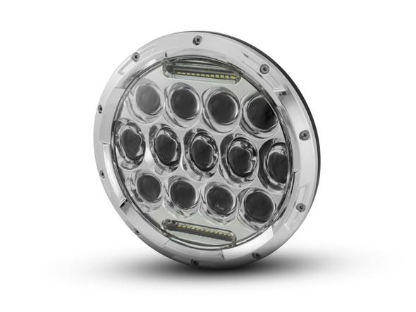 Chrome LED 7 inch motorcycle lens
