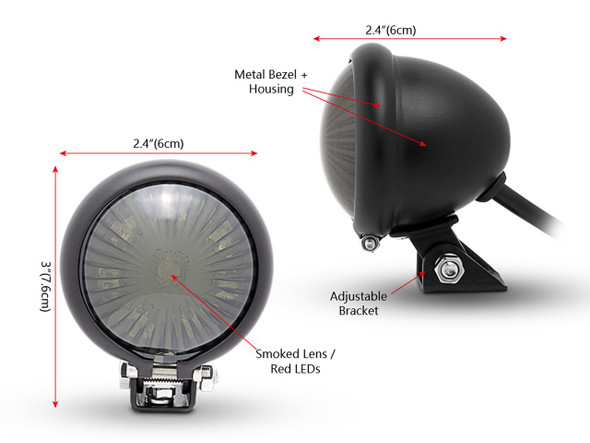 Fender Mount Tail Light Smoked Lens
