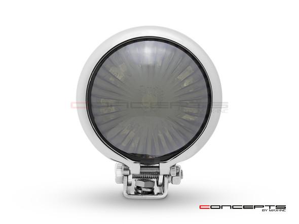 Chrome Mini Bates LED Stop / Tail Light - Smoked Lens