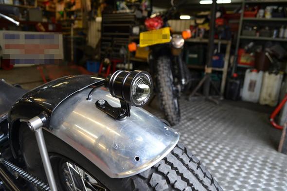 Black CNC Machined Aluminium Vintage LED Stop / Tail Light - Smoked Lens