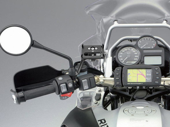 Billet Alum Motorcycle Handlebar  Mirror Mount iPhone Android Holder