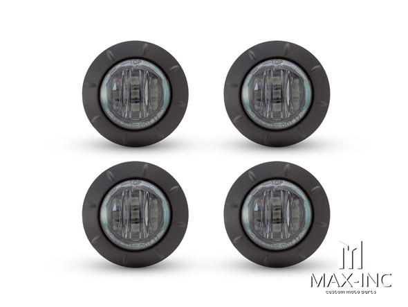 "2"" Flush Mount Smoked Lens LED Running / Turn / Tail / Stop Lights - Set Of 4"