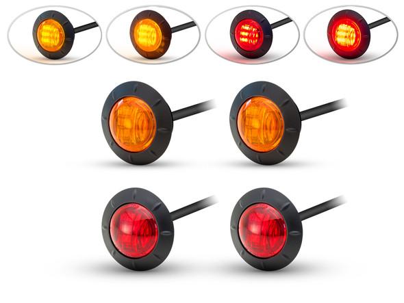"2"" Flush Mount LED Running / Turn / Tail / Stop Lights - Set Of 4"