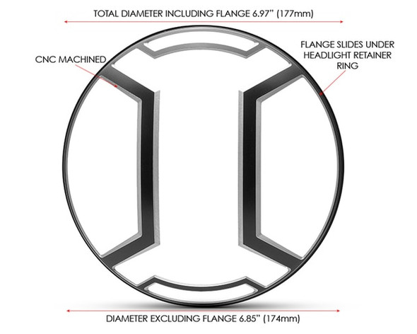 Motorcycle headlight guard  Lens cover