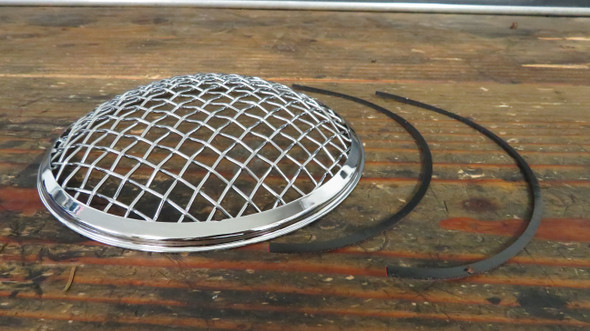 "Chrome 7"" stone guard rock Wire mesh headlight cover"