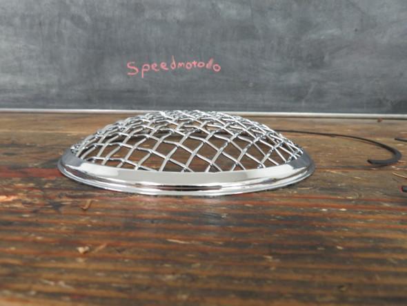 """Chrome 7"""" stone guard rock Wire mesh headlight cover"""