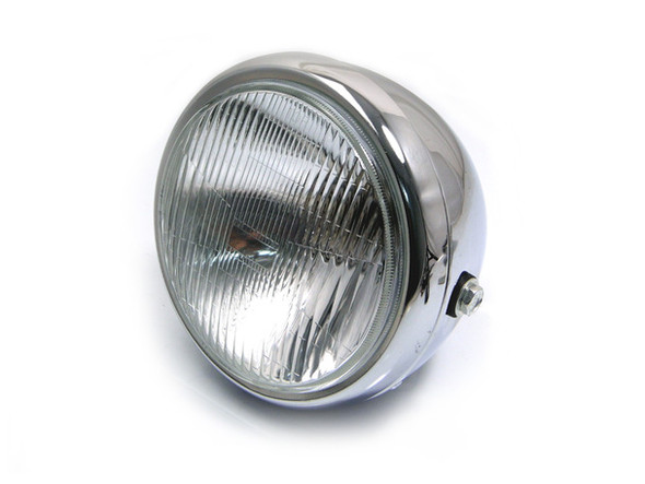 """6.75  INCH Chrome Motorcycle Headlight   6"""" lens Side Mount"""