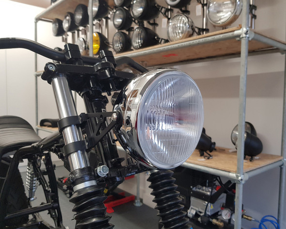 """6.75  INCH Chrome Motorcycle Headlight 