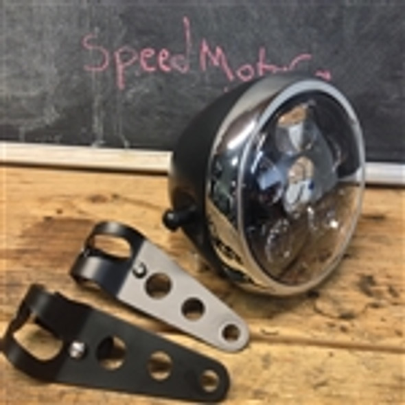 "6"" six projector LED headlight side mount metal housing"