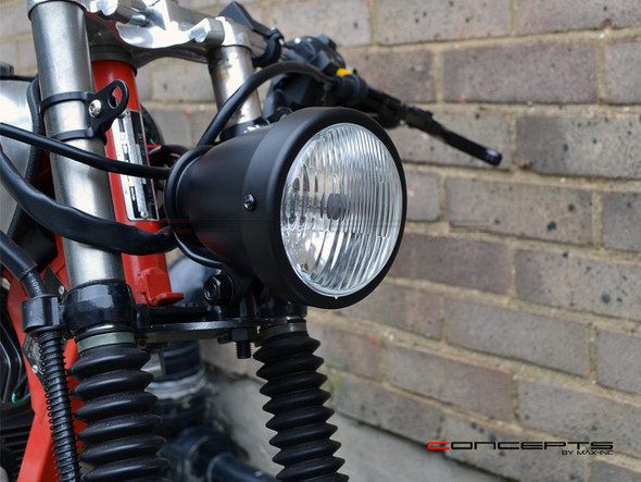 4.5 Inch Vintage Motorcycle headlight 12V Matte Black