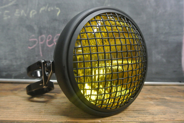 wire mesh motorcycle headlight kit Yellow headlight