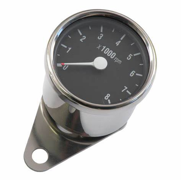 Motorcycle Universal Mini Custom Tachometer 8000 RPM (comes with single fire adpater)