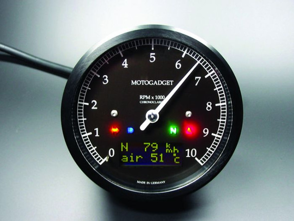 Chronoclassic 8K 10K 14K  Motorcycle tachometer gauge DarkEdition (msc) 8K 10K 14K