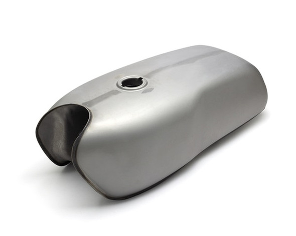 motorcycle fuel tank all steel with heavy duty petcock