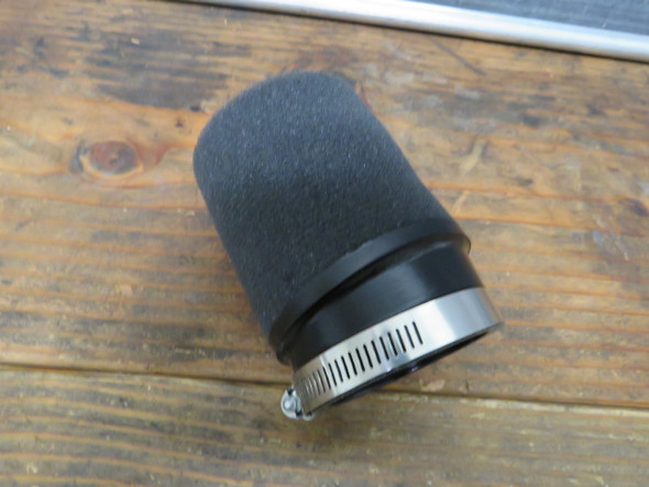 "Mikuni vm30 vm32 vm34 Pod ANGLED air filter UNI foam round 4"""