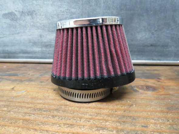 Mikuni vm30 vm32 vm34 Pod air filter Cloth Oval Tapered RED