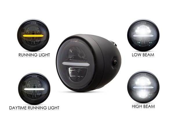 LED Bullet style GPS speedometer headlight