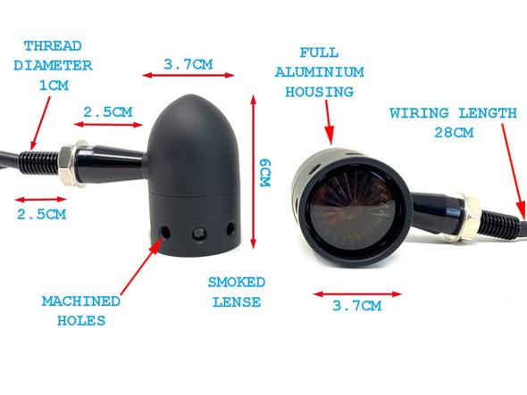 Amber Motorcycle  Indicators | Turn Signals | Filament style