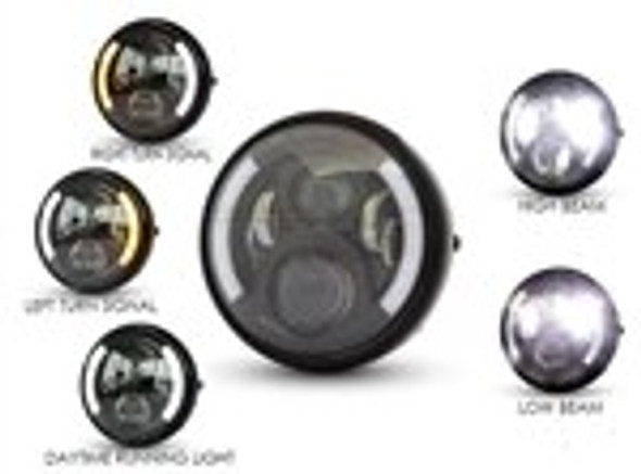 Integrated Motorcycled headlight