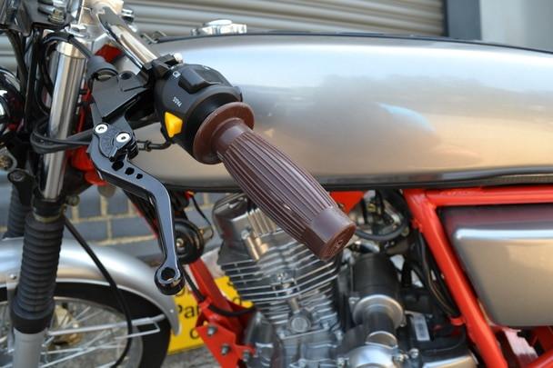 Brown Motorcycle handlebar grips