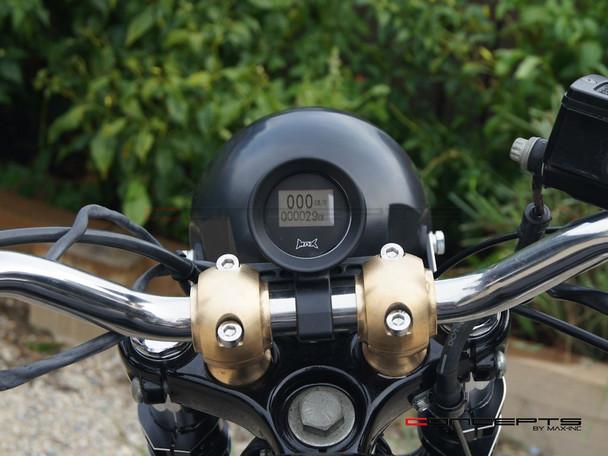 "Motorcycle Matte Black Handlebar Mount GPS Digital Speedometer MPH / KPH - Fits 1"" (25.4mm) Bars"