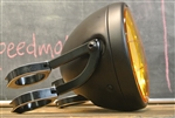 Motorcycle Headlight Clear  Yellow lens with bracket