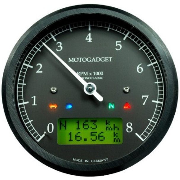Chronoclassic 8K 10K 14K Motorcycle tachometer gauge green LCD (msc)