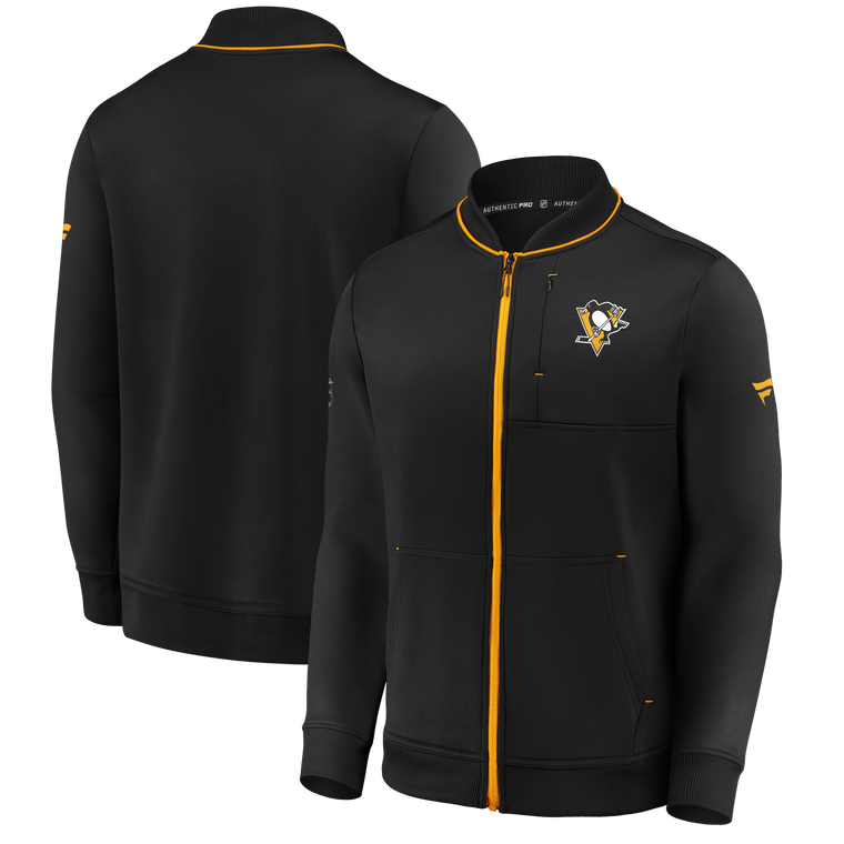 Pittsburgh Penguins-MENS BLACK LOCKER ROOM 2020 FULL ZIP JACKET
