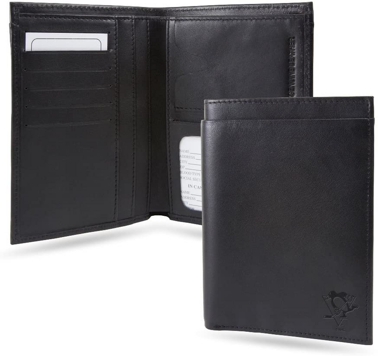 Pittsburgh Penguins- LEATHER PASSPORT COVER