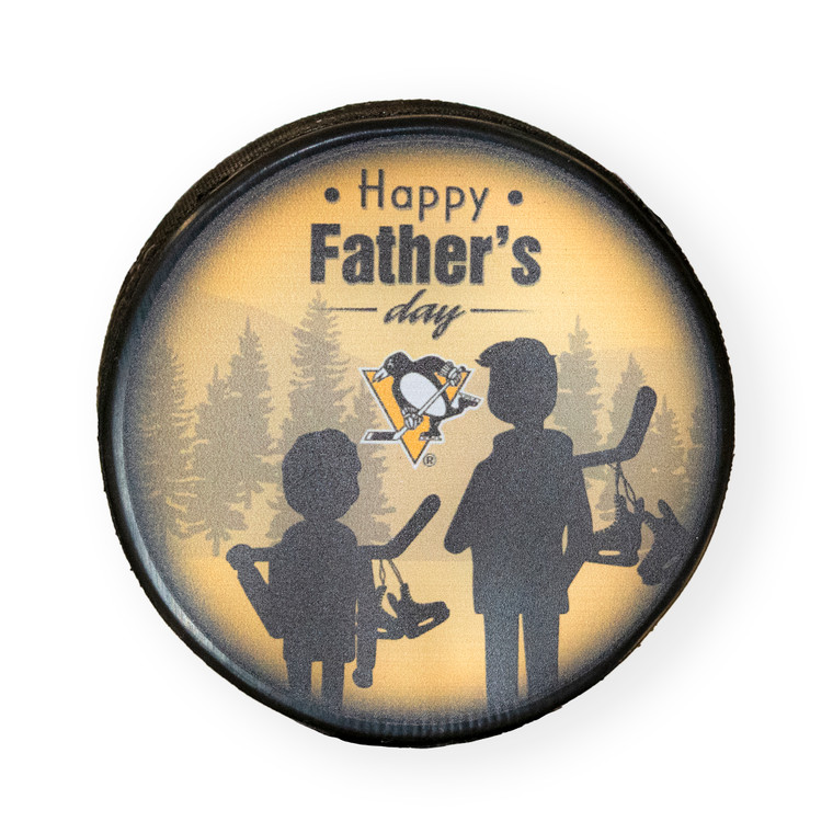 PITTSBURGH PENGUINS 2021 FATHERS DAY PUCK