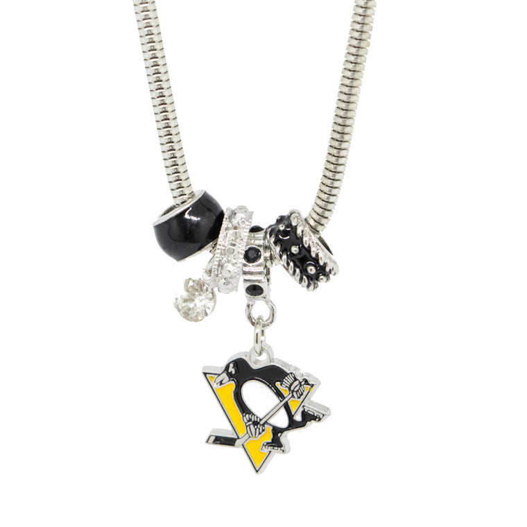 PITTSBURGH PENGUINS NECKLACE EURO BEAD