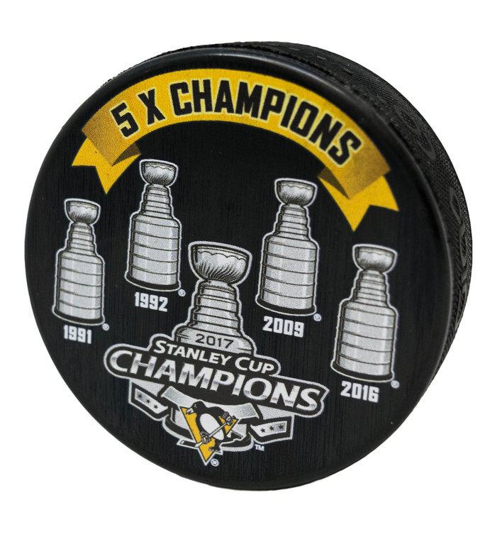 Pittsburgh Penguins Puck 5X Champions