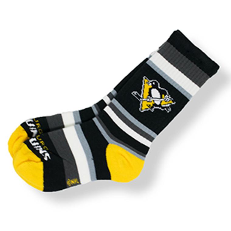 Pittsburgh Penguins Sock Youth Rainbow Stripe